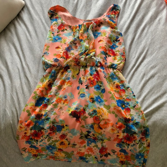 Charlotte Russe Dresses & Skirts - Floral tank top dress